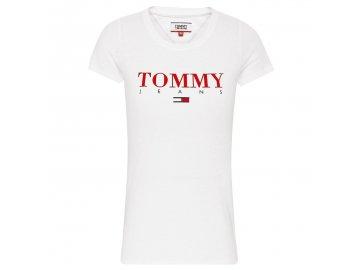 Dámské triko Tommy Hilfiger Essential Bílé