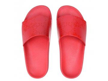 Dámské pantofle Guess Print Červené