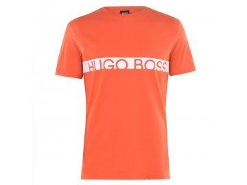 Pánské triko Boss Stripe Logo Oranžové