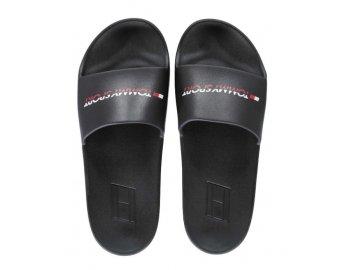Dámské pantofle Tommy Hilfiger Sport Pool Černé