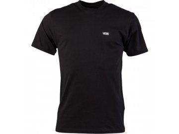 vans vn0a3czey281 mn left chest logo tee black white 0