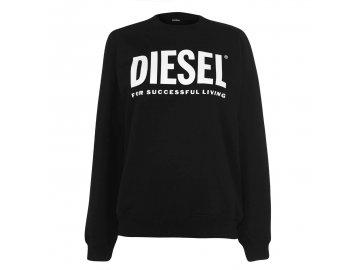 Dámská mikina Diesel Logo Crew Černá