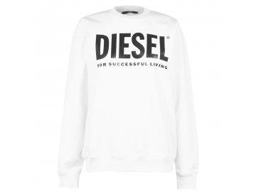 Dámská mikina Diesel Logo Crew Bílá
