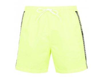Pánské plavky Calvin Klein Side Tape Žluté