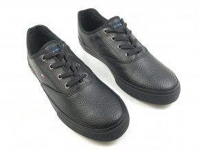 Pánské kožené boty Hilfiger Černé