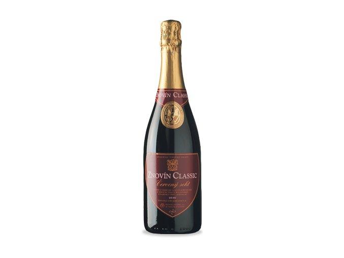 Znovín Classic Sekt Demi sec červený jakostní šumivé víno 2009