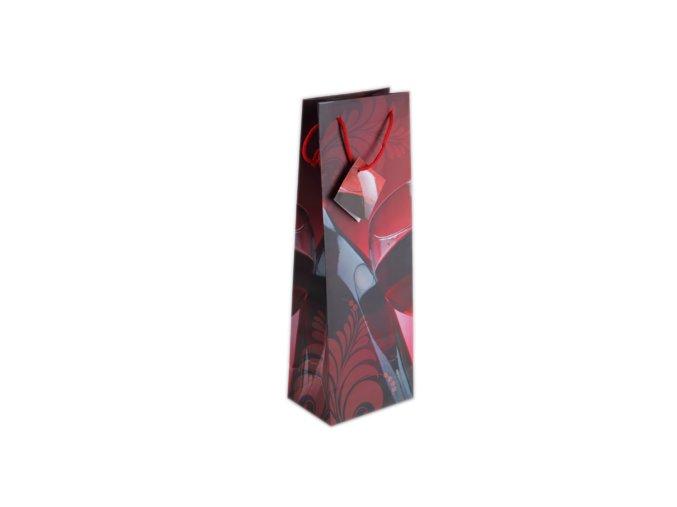 Dárková taška červená-láhev