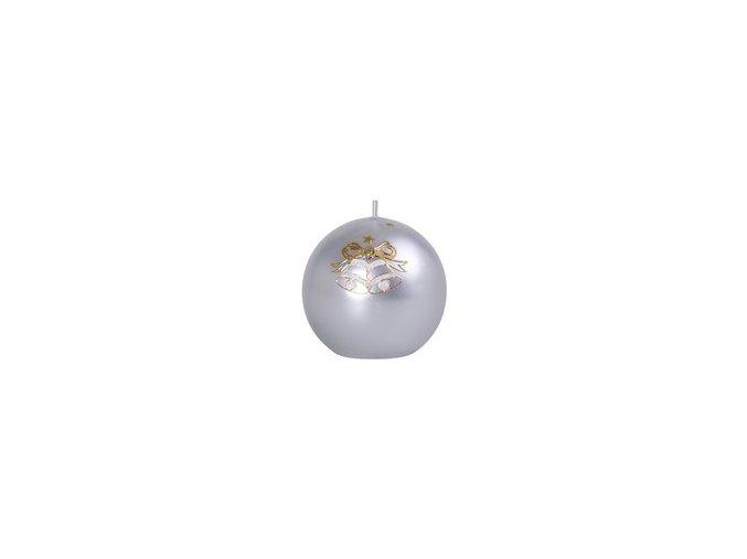 dvojzvonek koule stříbrná