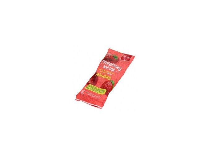 proteinový koktejl jahoda