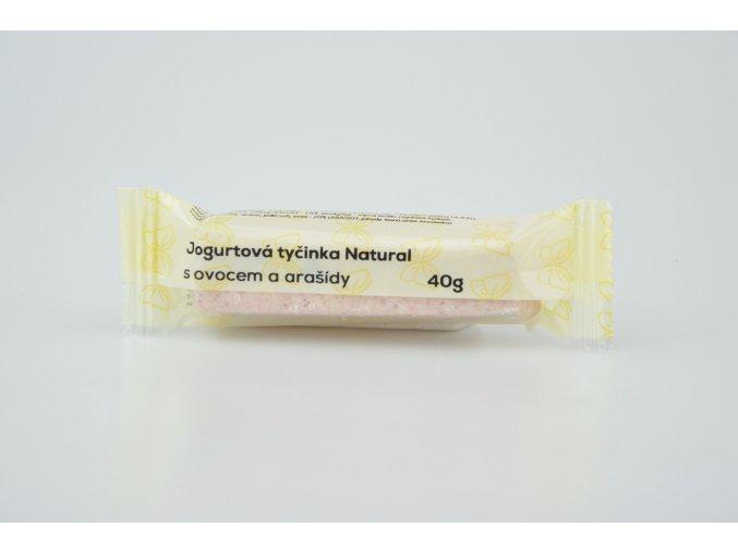 jogurt tyč ovoce arašídy