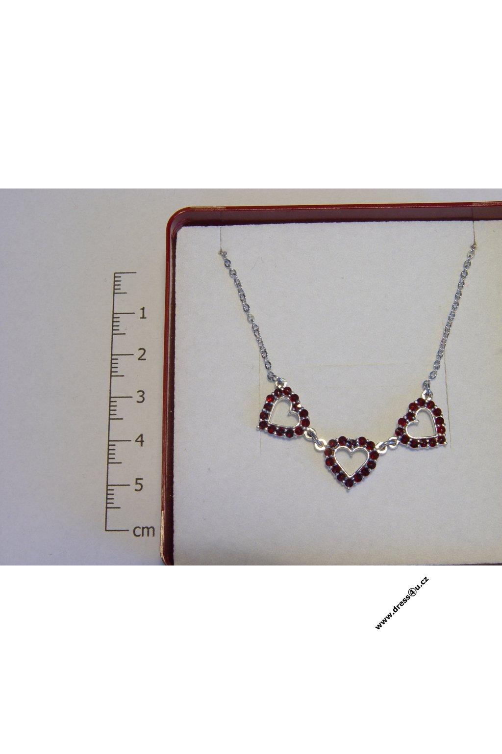 Český granát - náhrdelník 6770168 - srdíčka