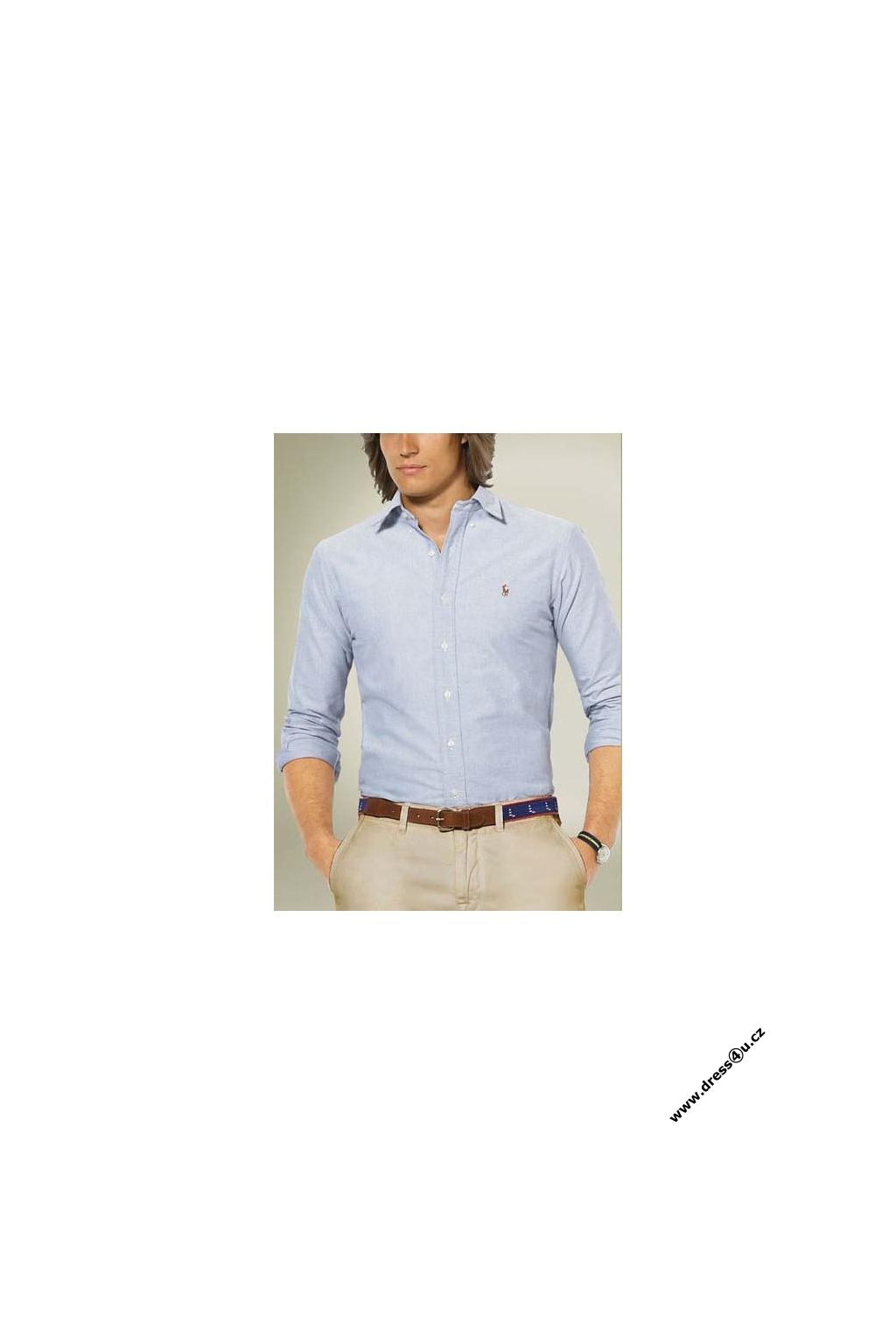 Ralph Lauren pánská košile Oxford modrá