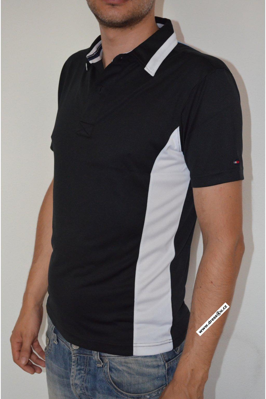 Tommy Hilfiger pánské golf polo triko černé