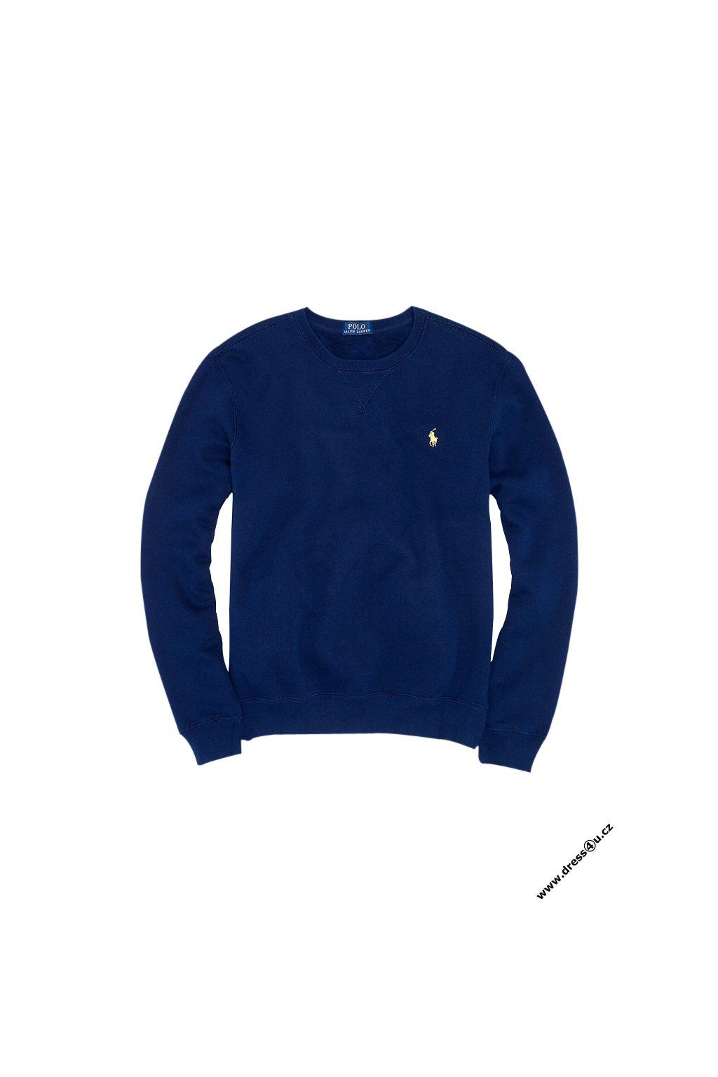 Ralph Lauren pánská mikina Atlantic Terry Crew tmavě modrá
