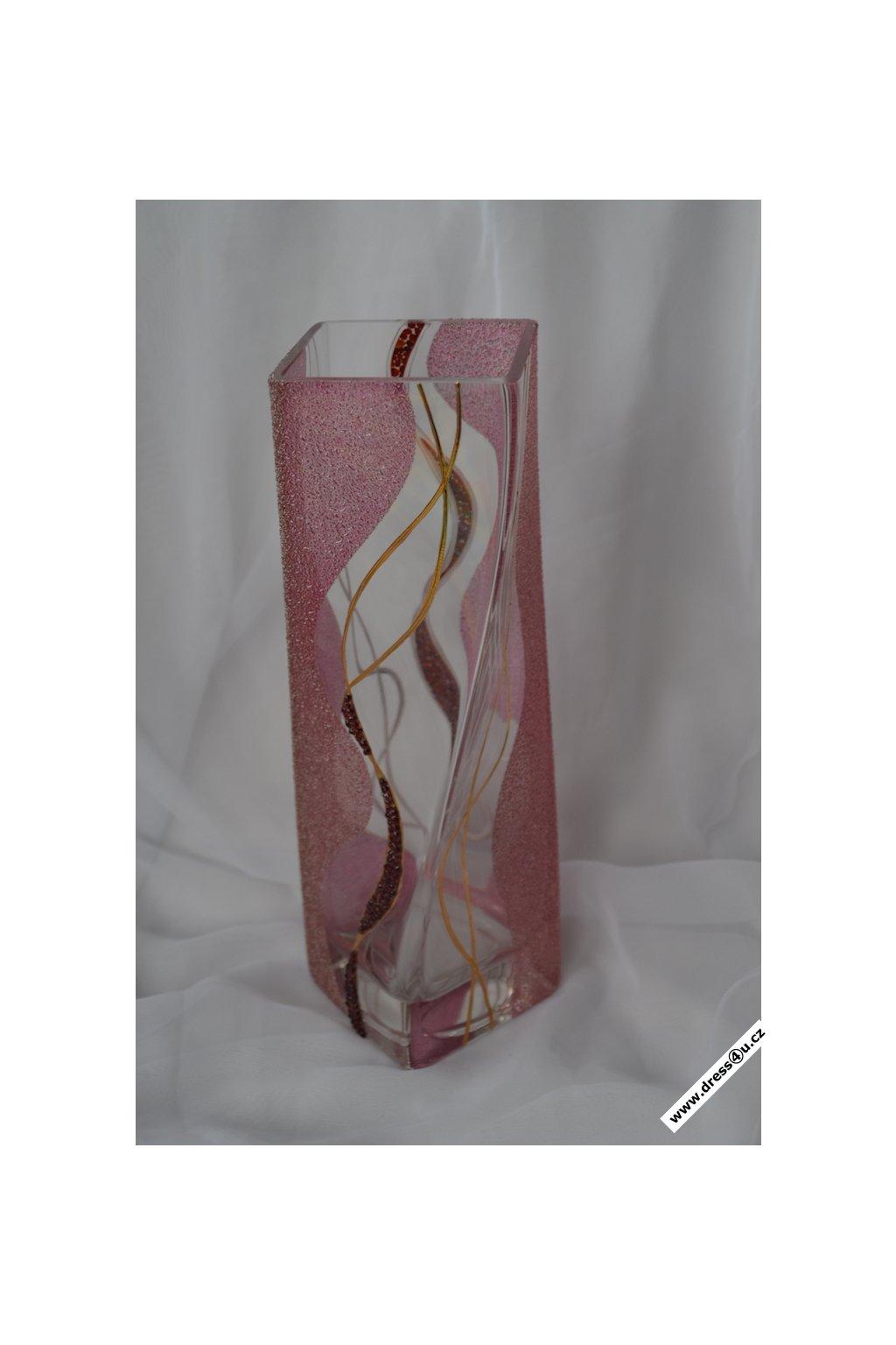 Skleněná váza s granátky