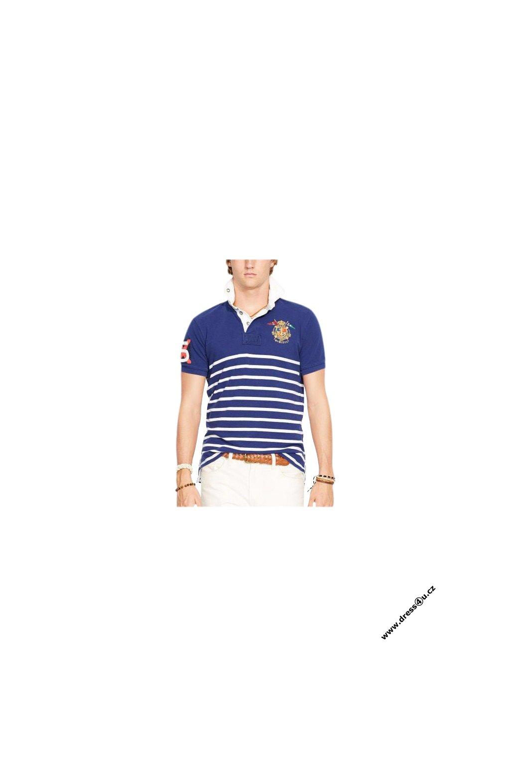 Ralph Lauren pánské polo modrobílé