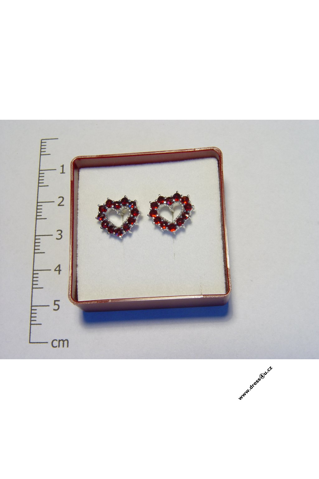 Český granát - náušnice 6370562 - srdíčka