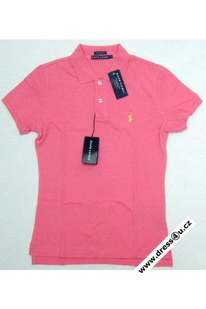 Ralph Lauren dámské polo triko růžové
