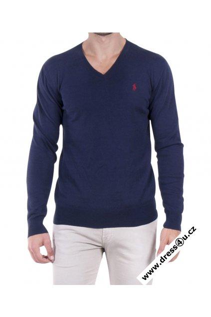 Ralph Lauren pánský svetr tm.modrý