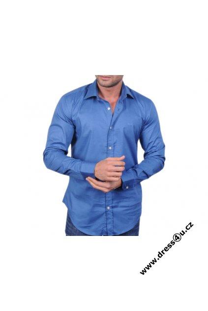 Hugo Boss pánská košile modrá