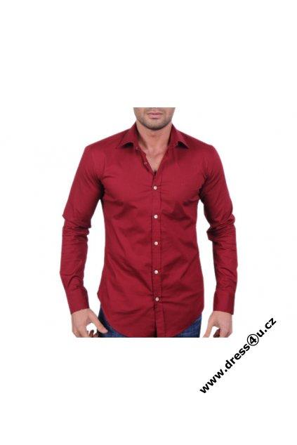 Hugo Boss pánská košile červená