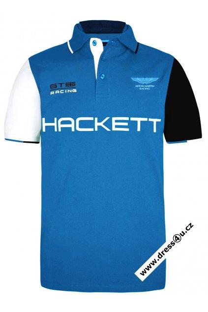 Pánské triko Hackett Aston Martin Racing Multi Polo modré