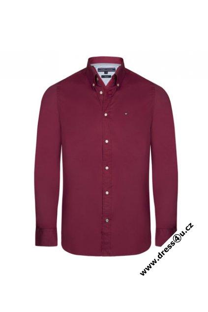 78d3bcb449b Tommy Hilfiger pánská košile červená - dress4u.cz