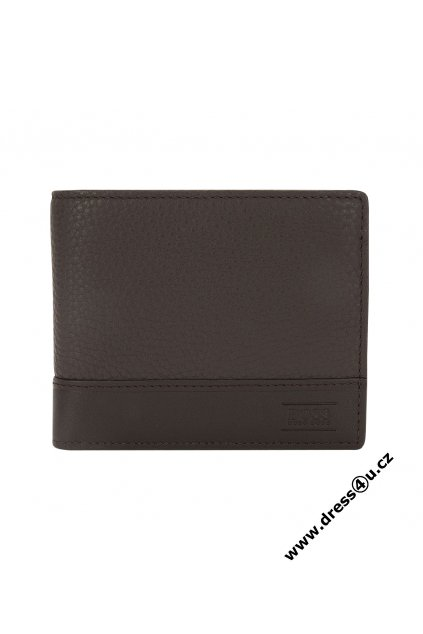 Wallet made of embossed leather Aspen Trifold Brown B 3954