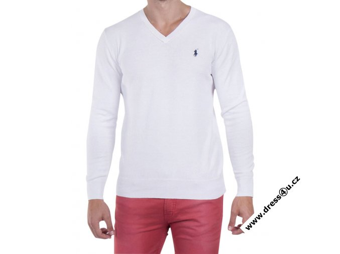 Ralph Lauren pánský svetr bílý