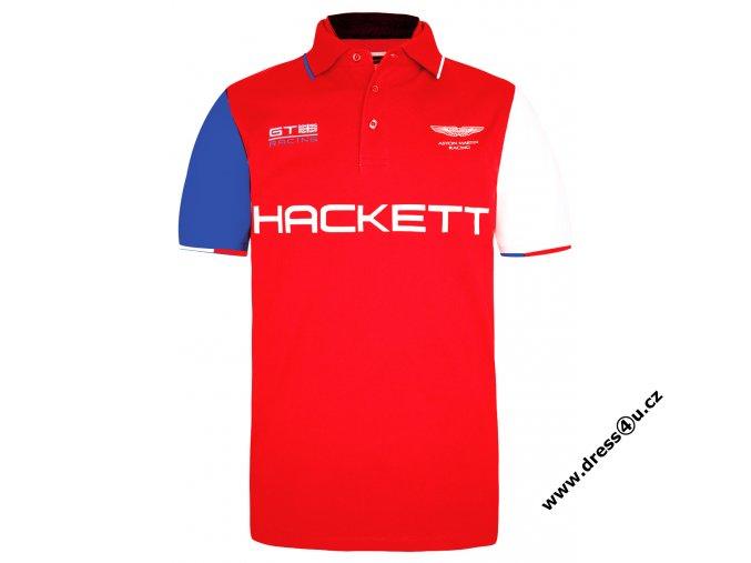 Pánské triko Hackett Aston Martin Racing Multi Polo červené