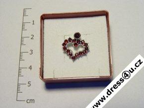 Český granát - přívěšek 6470331 - srdíčko