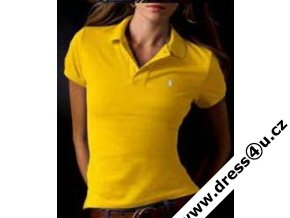 Ralph Lauren dámské polo triko žluté s krátkým rukávem