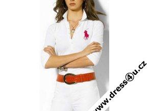 Ralph Lauren dámské polo triko bílé s velkým červeným koněm