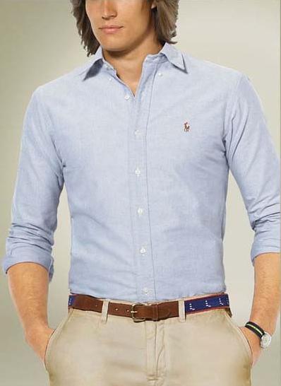 Ralph Lauren pánská košile Oxford modrá velikost: M