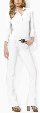 Ralph Lauren dámské polo triko bílé s velkým bílým koněm velikost: S