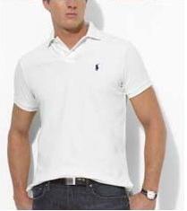 Ralph Lauren pánské polo triko bílé velikost: M