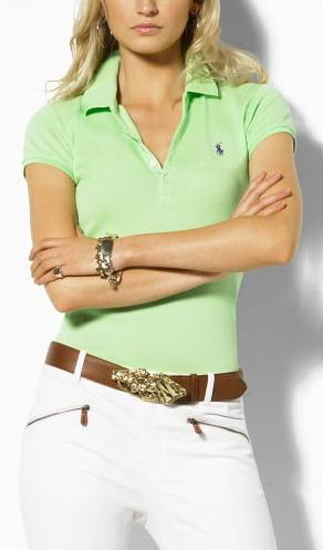 Ralph Lauren dámské polo triko sv.zelené velikost: S