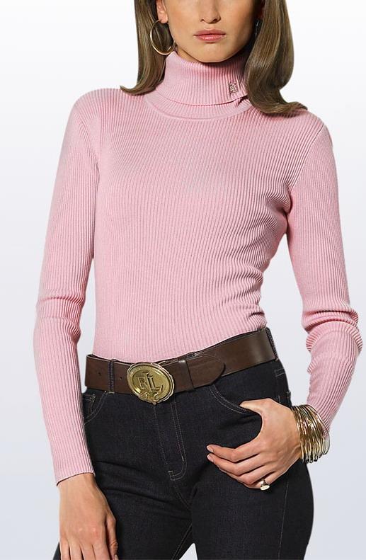 Dámský rolák Lauren by Ralph Lauren sv.růžový velikost: S