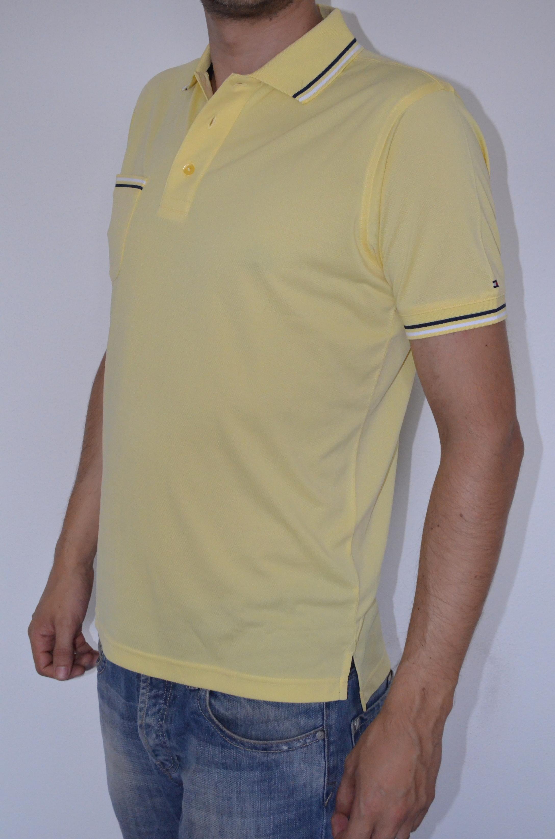 Tommy Hilfiger pánské golf polo triko žluté velikost: S