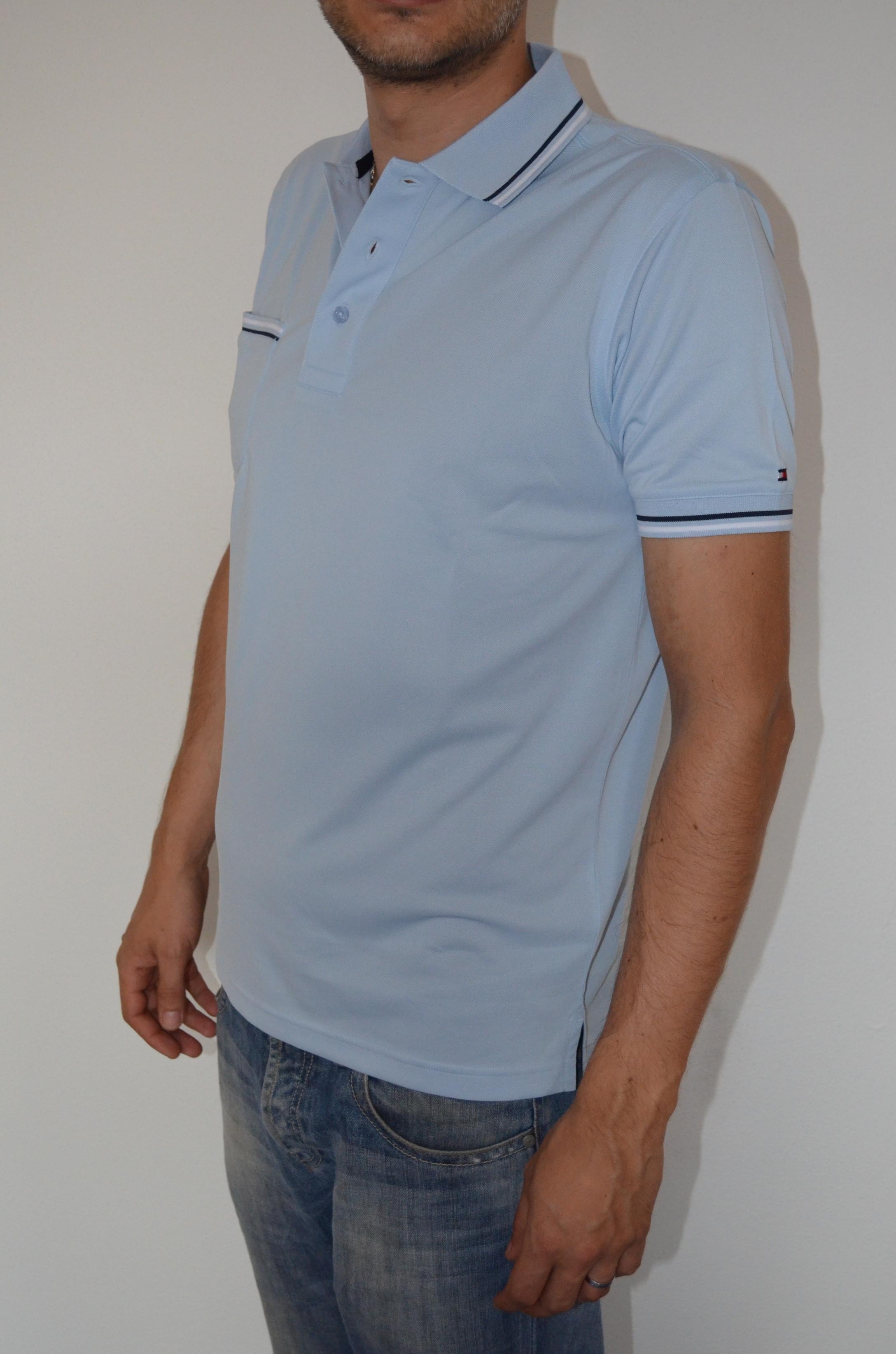 Tommy Hilfiger pánské golf polo triko sv.modrá velikost: S