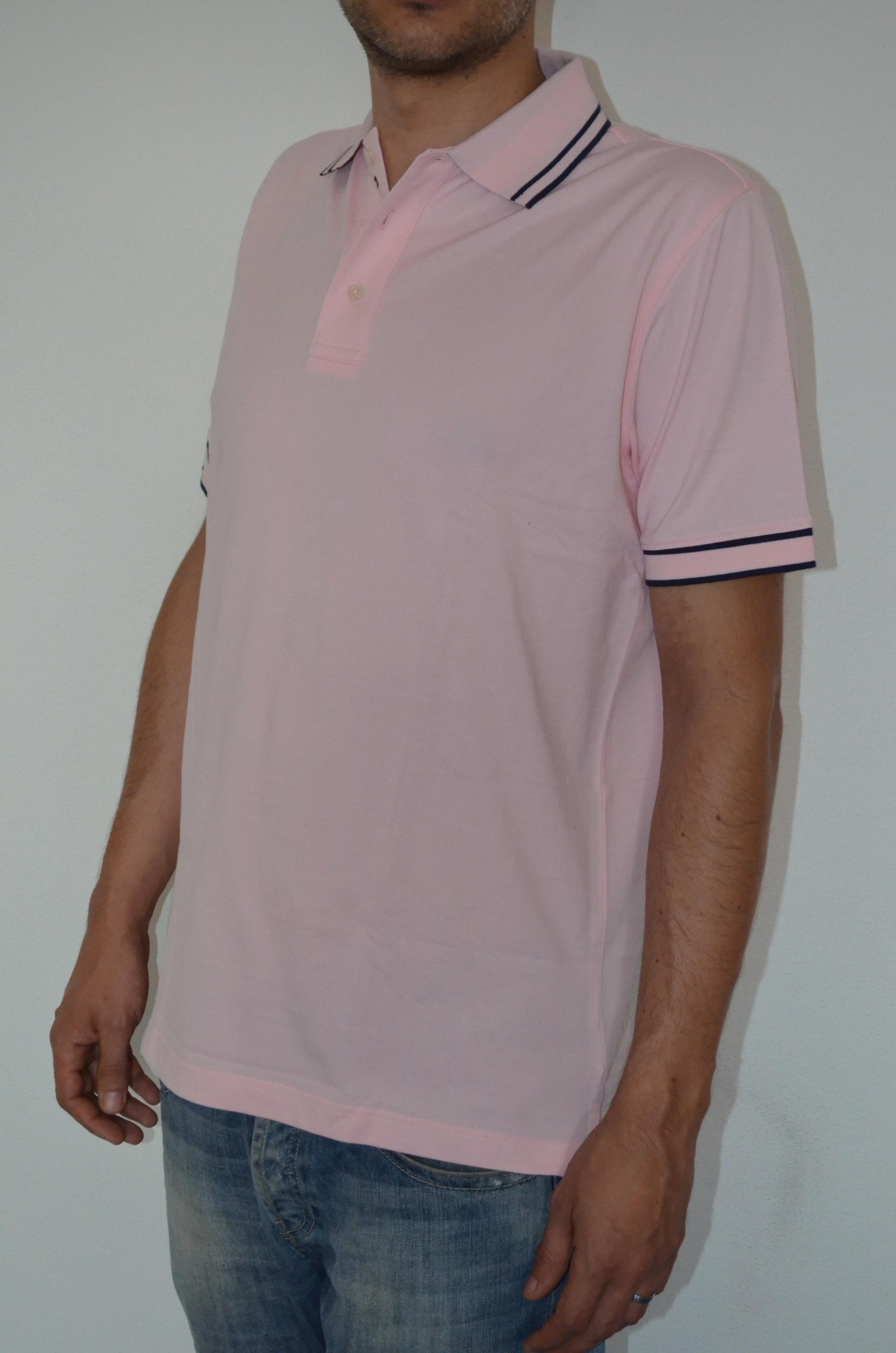 Tommy Hilfiger pánské polo triko růžové velikost: S