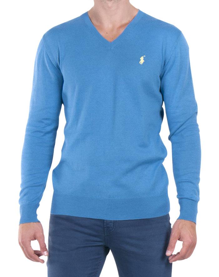 Ralph Lauren pánský svetr modrý velikost: M