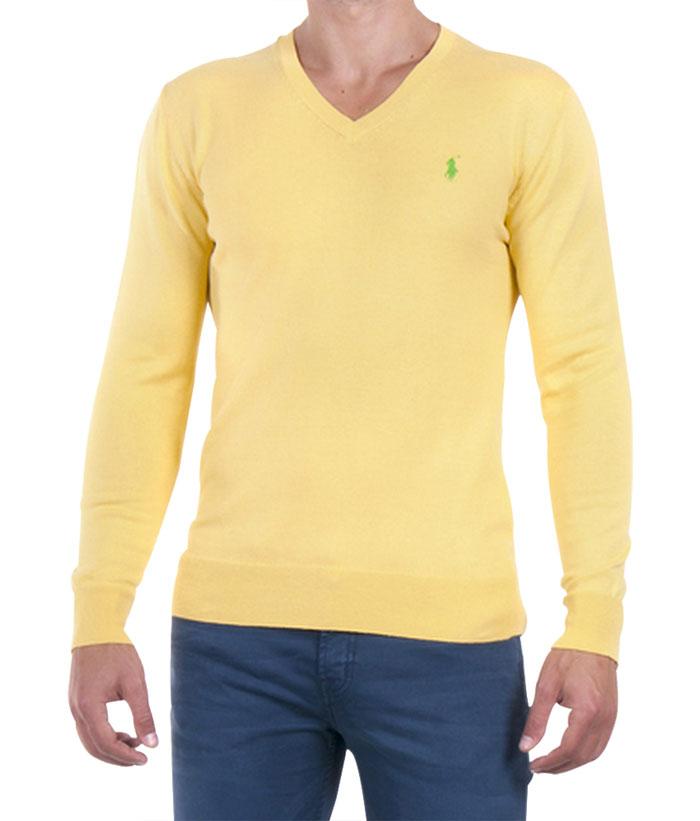 Ralph Lauren pánský svetr žlutý velikost: M