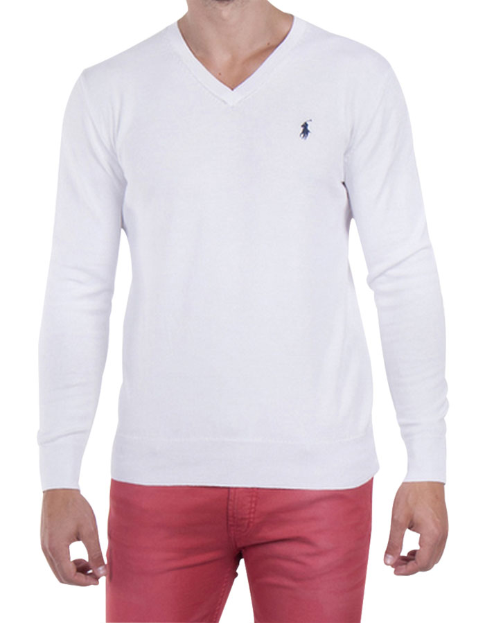 Ralph Lauren pánský svetr bílý velikost: M