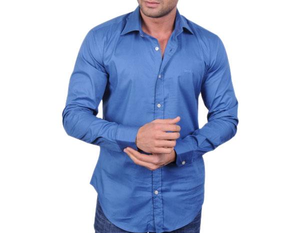 Hugo Boss pánská košile modrá velikost: M
