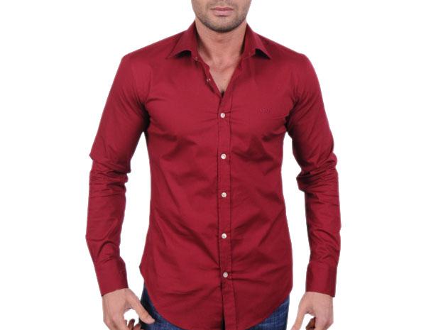 Hugo Boss pánská košile červená velikost  L 58bc22203b