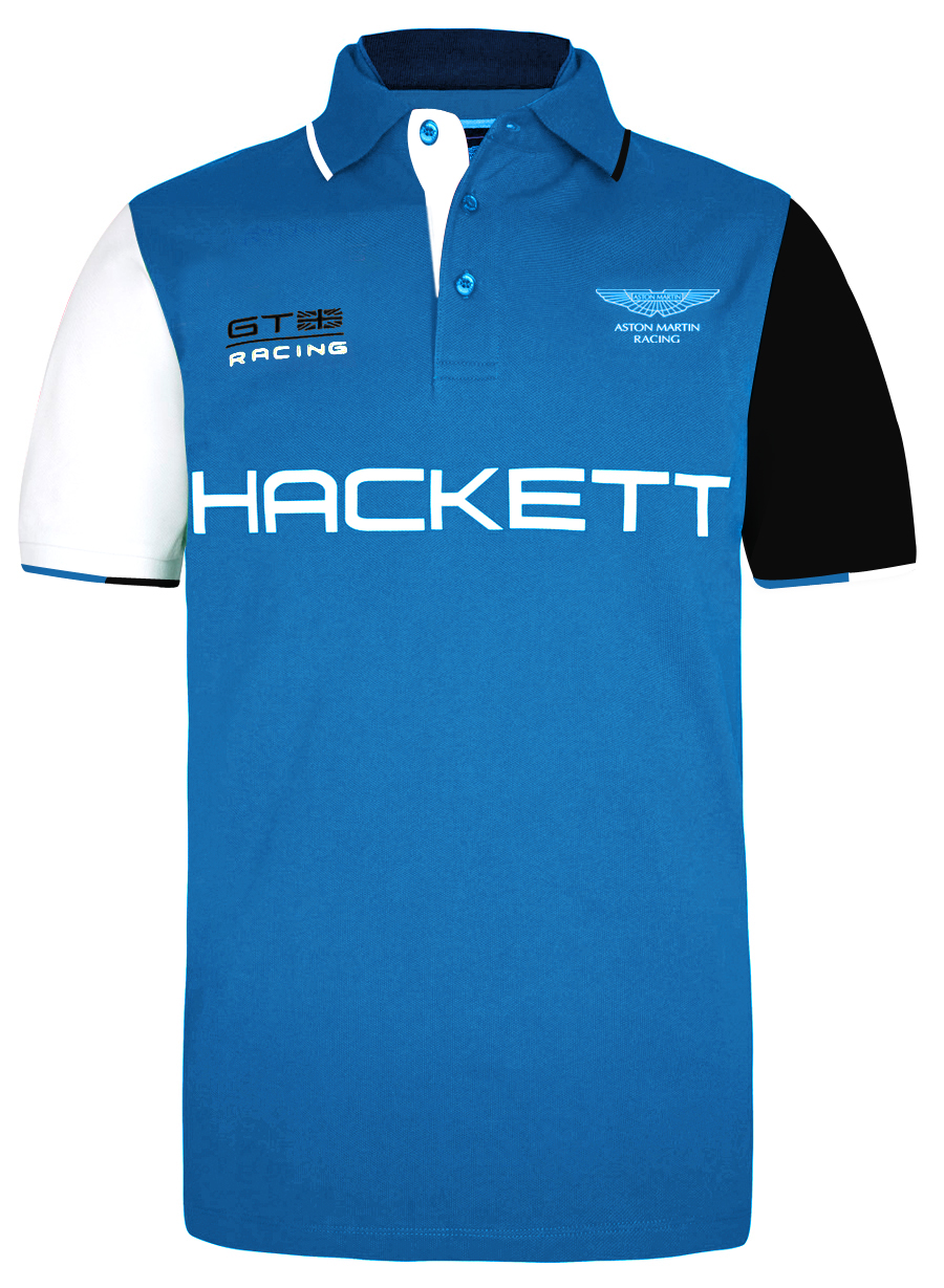 Pánské triko Hackett Aston Martin Racing Multi Polo modré velikost: M
