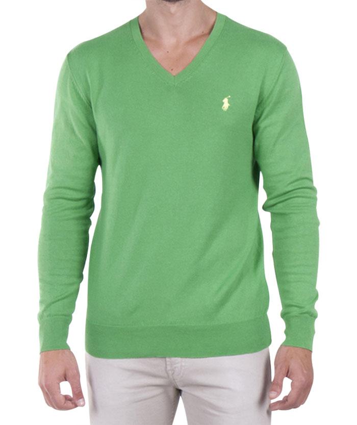 Ralph Lauren pánský svetr zelený velikost: M