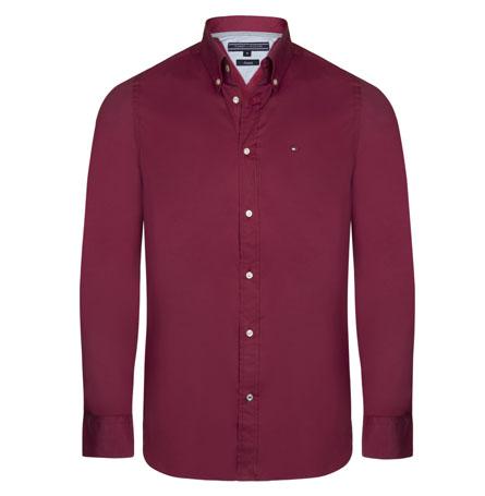 Tommy Hilfiger pánská košile červená velikost: M
