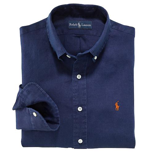 Ralph Lauren pánská košile Broadcloth Blake tmavě modrá velikost: L